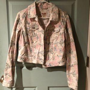 Mossimo Pastel Floral Denim Jacket